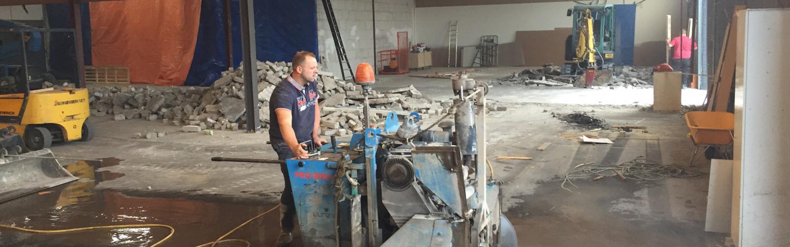 Inzagen betonvloer